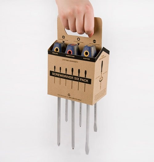 Screwdriver six pack Package Design