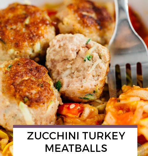 Zucchini Turkey Meatballs recipe