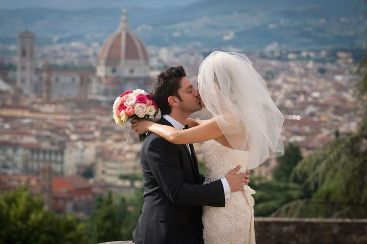 Kissed on the roof of a Florentine Hotel - View on Dome