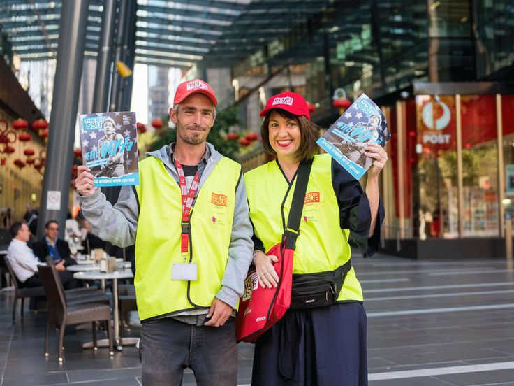 It's The Big Issue's #vendorweek and here is our Chief Customer Officer, Christine Corbett, helping Lukas sell the current issue, featuring Bruce Springsteen. Get your copy from your local Big Issue vendor.   #TheBigIssue