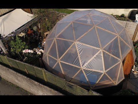 My Geodesic Dome Building Process - YouTube