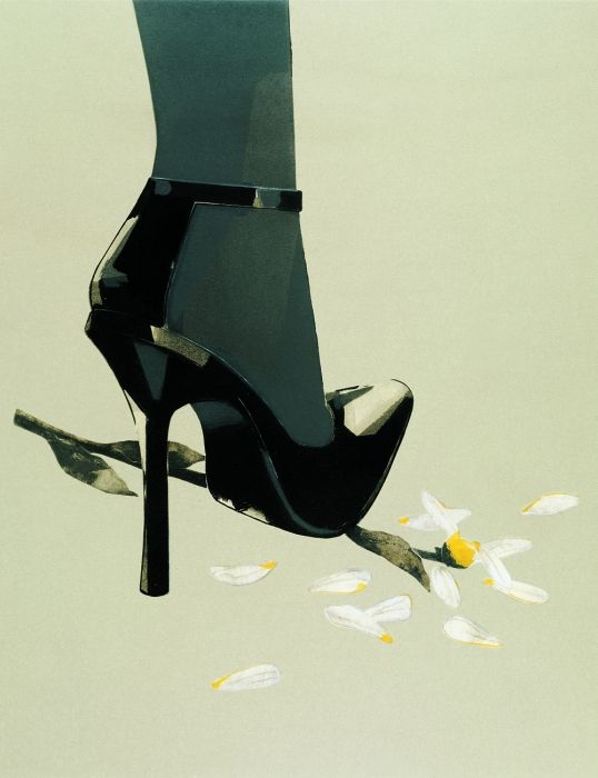Shoe illustration - anyone know who drew this?