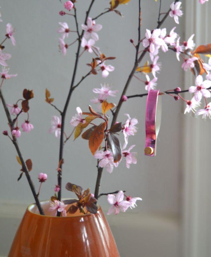 Cooee Design Bracelet NutCuff Mirror Rosso & Cherry Tree