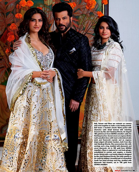 """The Kapoor family on Hello! November 2015 """