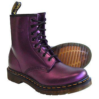 Dr Martens purple boots.