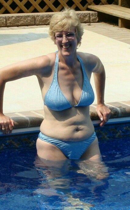 Mature woman bathing suit beach