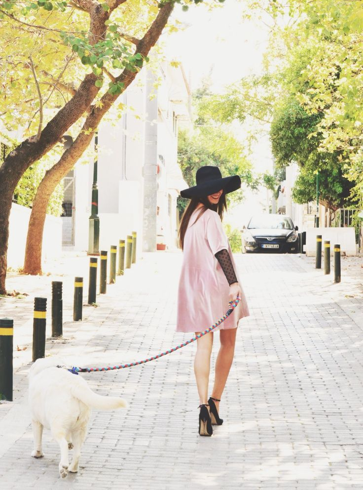 H-ēra pink velvet dress with polka dot details now @ www.h-era.com