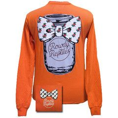 New Florida Gators Mason Jar Bow Girlie Bright Long Sleeves T Shirt | SimplyCuteTees