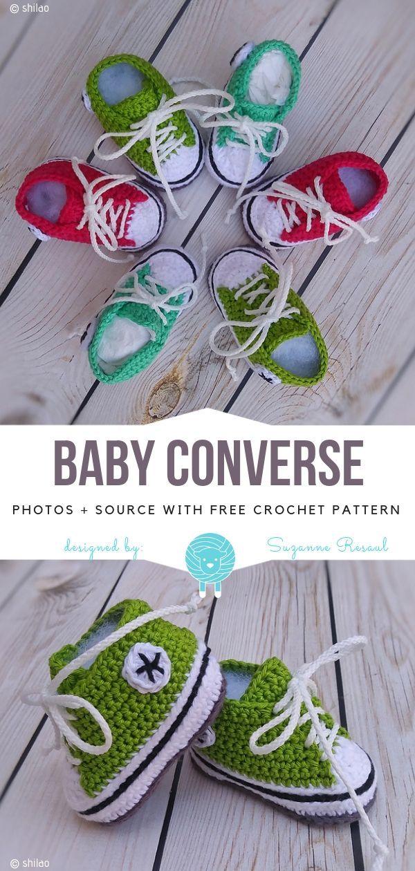 Baby Converse Free Crochet Pattern
