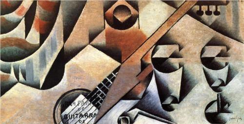 Guitar and Glasses (Banjo and Glasses) - Juan Gris
