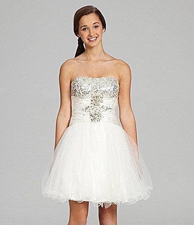 B Darlin SequinEmbellished Ballerina Dress Dillards