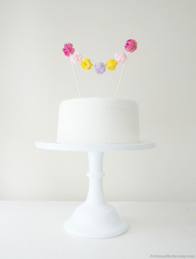 Creative cake toppers by Potter and Butler on http://www.chickabug.com/blog