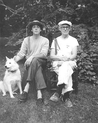 Paul McCartney and Willem de Kooning, 1983