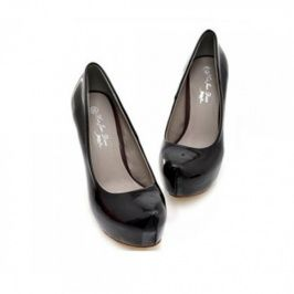 Stylish Pure Color Wedge Shoes Black