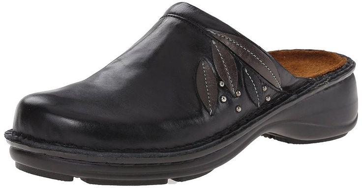 Naot Anise Black Metalic Women's Clog Size EU 37  US 6 #Naot #Shoes