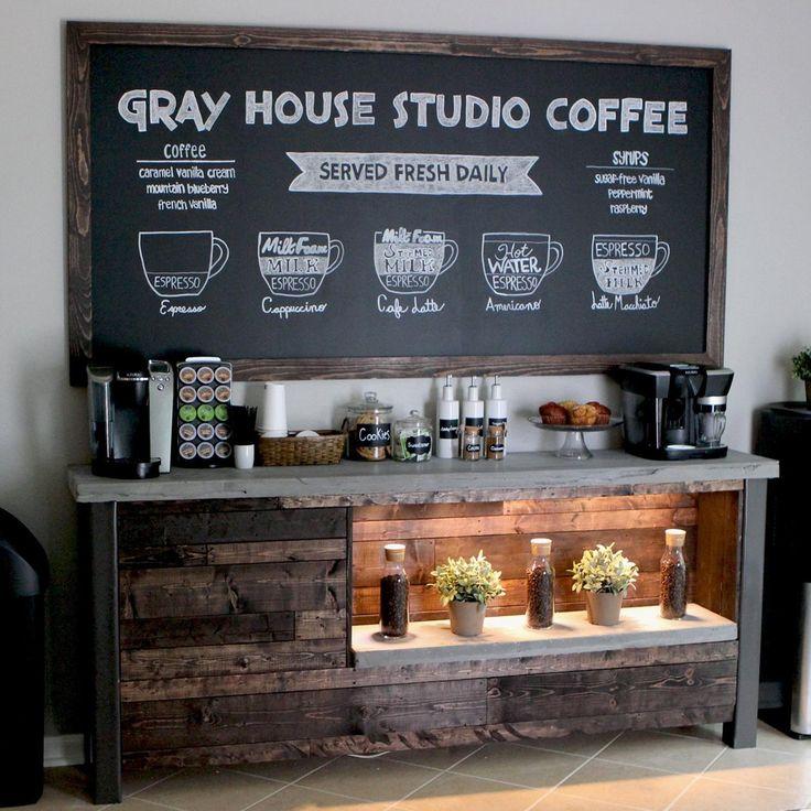 Coffee Bar DIY Woodworking Plans PDF in 2020 Coffee bar