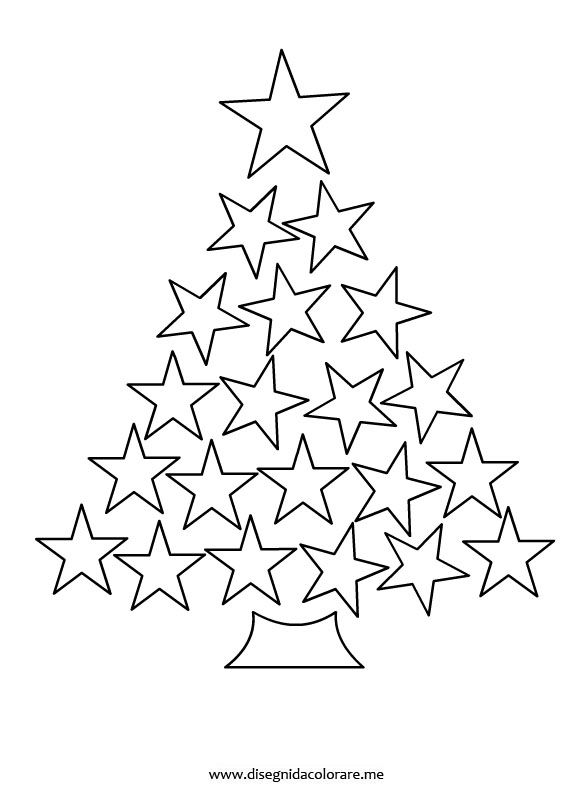 Star Christmas Tree colouring page