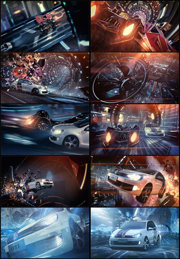 VW Golf GTI - Out Of This World 2013 by Kaism Lim, via Behance