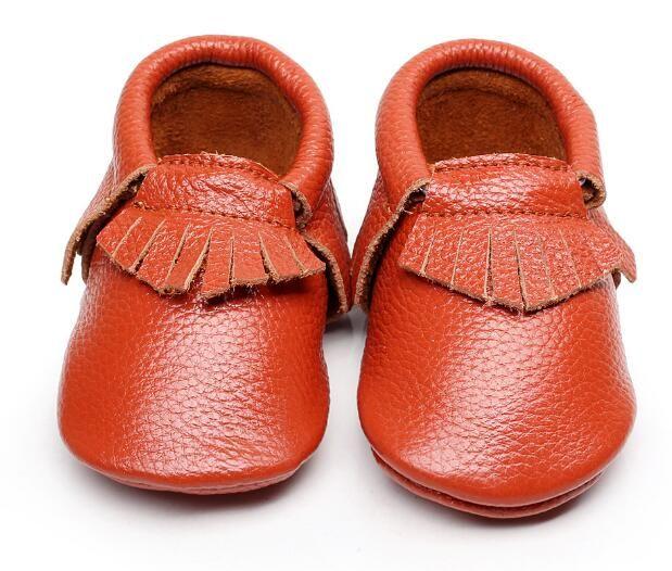 Hongteya Genuine Leather Baby Shoes Fringe Baby Moccasins Soft Soled Infant Newborn Baby Girl First Walker Shoes Leather Baby Shoes Baby Moccasins Walker Shoes