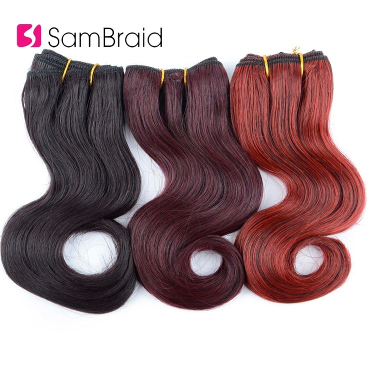 Sambraid 8 Inch Short Afro Body Wavy Synthetic Hai…
