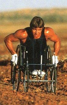 Rick Hansen on his Man in Motion tour, 25 years ago!