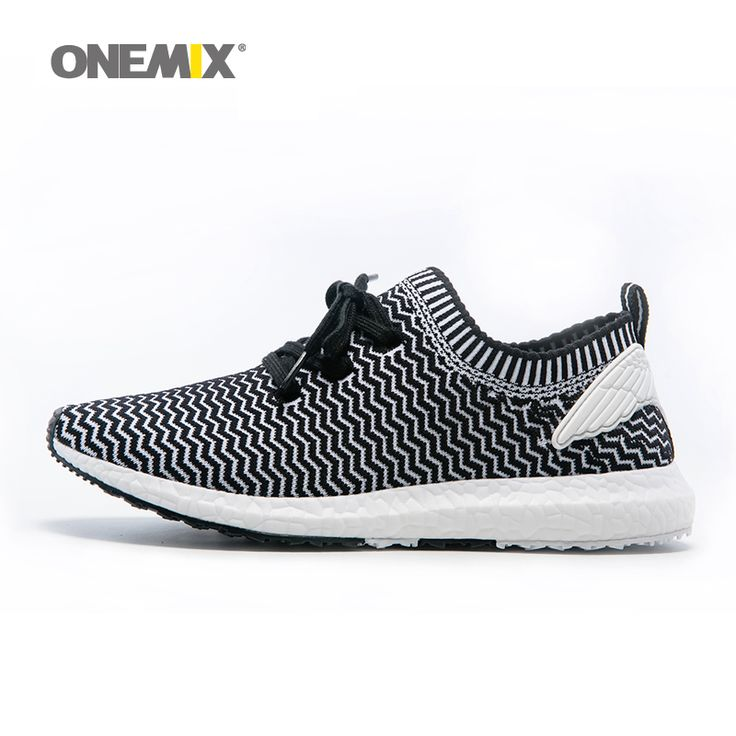 Onemix Cheap Mens Running Shoes Athletic Trainers Black Zapatillas Sports Shoe Outdoor Walking Sneakers. Size 36-45