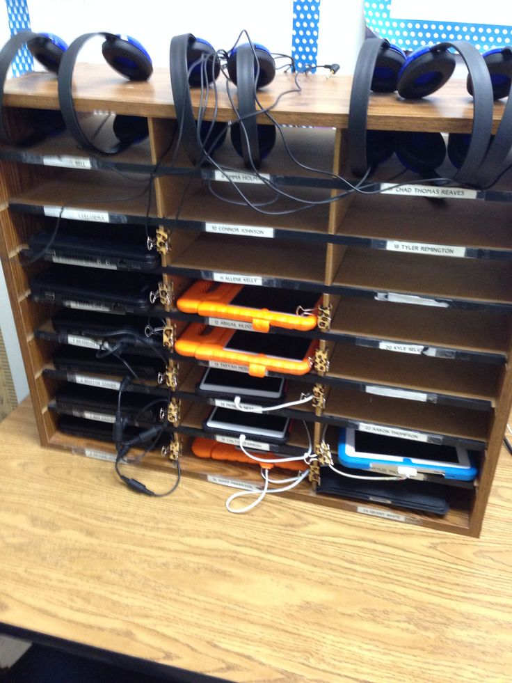 Classroom charging station for iPads and netbooks