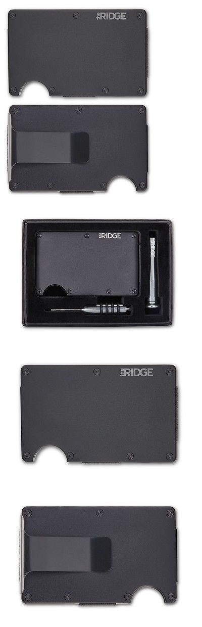Wallets 2996: The Ridge Wallet Aluminum Black Money Clip Front Pocket Slim Metal Rfid Blocking -> BUY IT NOW ONLY: $72 on eBay!