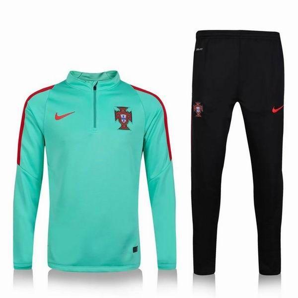 2016 Portugal national team Soccer Uniforms green black