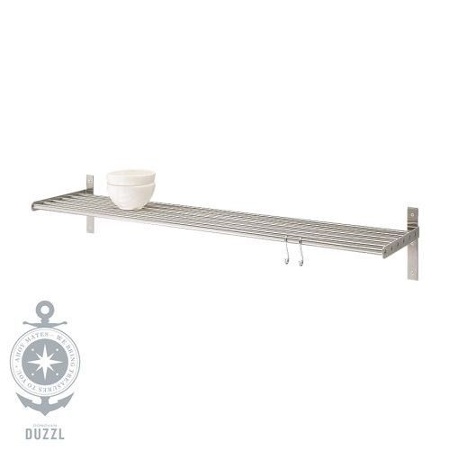 IKEA-GRUNDTAL-Wandregal-aus-Edelstahl-80cm-Kuechenablage-Badablage