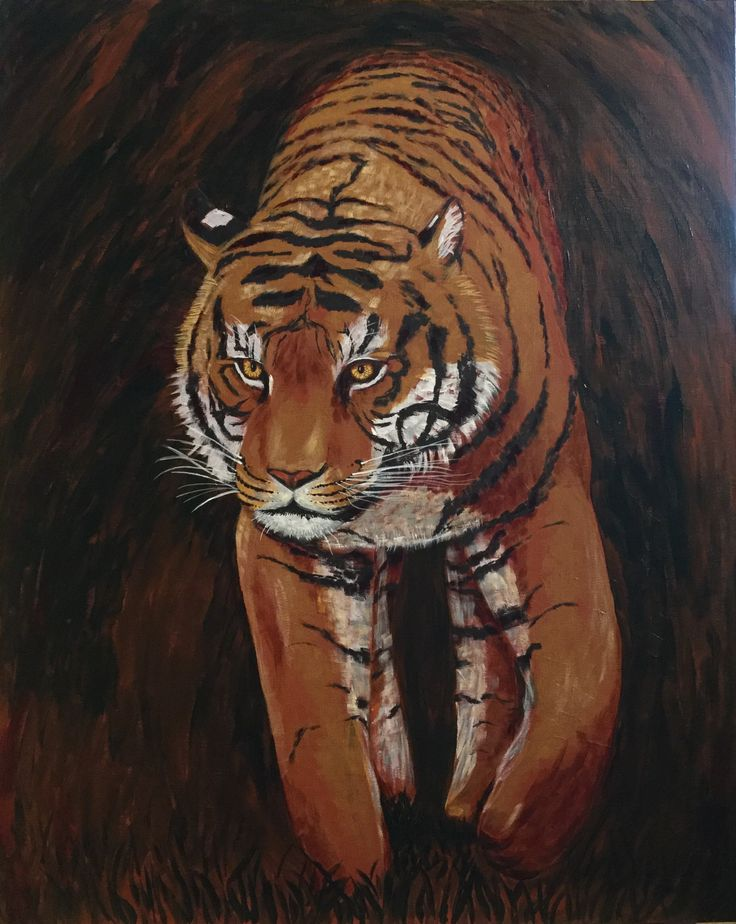 On the Prowl Acrylic on board  24 x 30