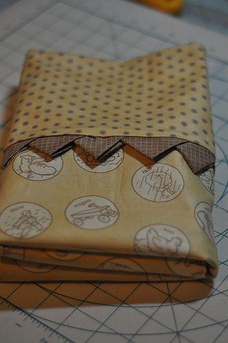how to do prairie points as an edge around a blanket (or in a pillowcase as…