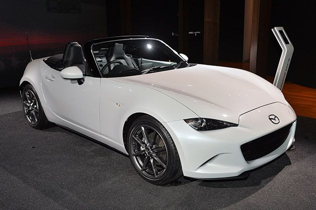 Los Angeles: 2016 Mazda MX-5 Miata is a knight in white satin