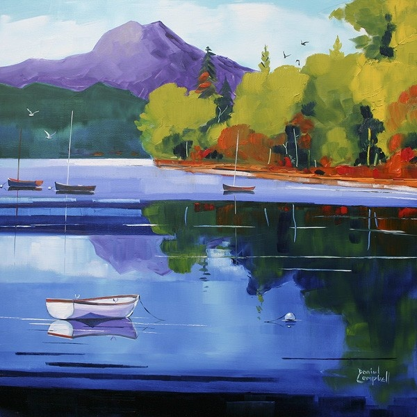 Art Prints Gallery - The Ben From Loch Ard (Limited Edition), £70.00 (http://www.artprintsgallery.co.uk/Daniel-Campbell/The-Ben-From-Loch-Ard-Limited-Edition.html)