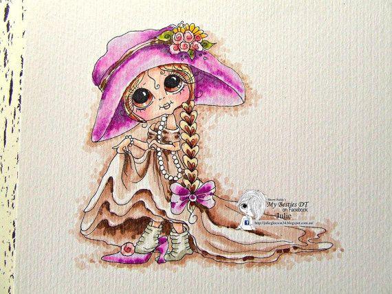 SOFORTIGE DOWMLOAD Digital Digi Briefmarken großes Auge großer Kopf Puppen Digi Img070 Best Friends Forever von Sherri Baldy