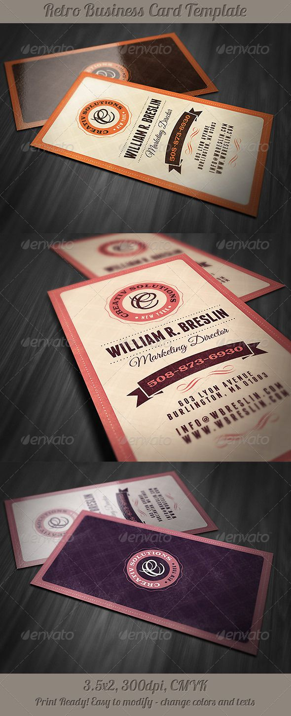 19 best business cards images on pinterest business cards carte retro business card template retrovintage business cards colourmoves