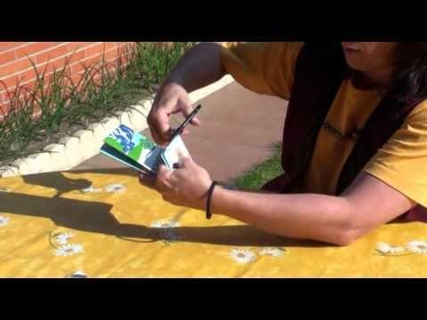 Como hacer carteras con envases tetra brik - YouTube