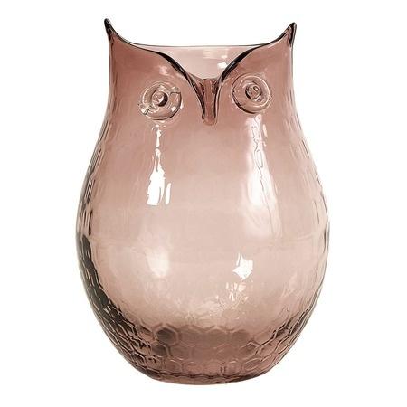 {Ambra Owl Glass Vase}