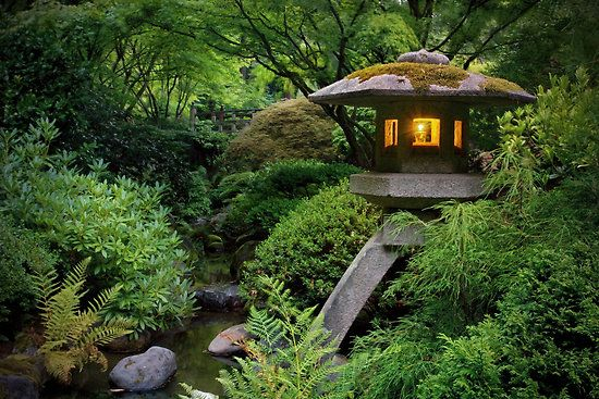 Tom Bombadil's house?  Actually, no.  It's a Japanese stone lantern from the Portland Japanese Gardens