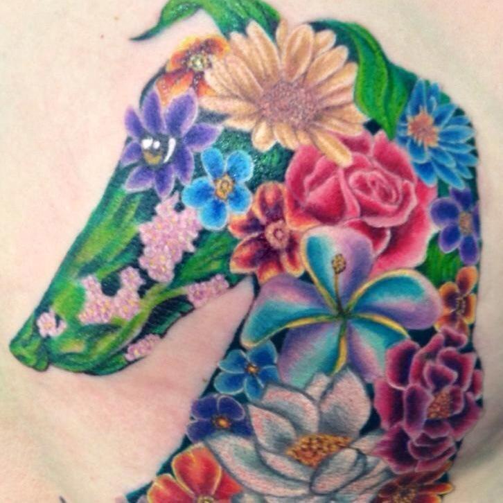Flower greyhound