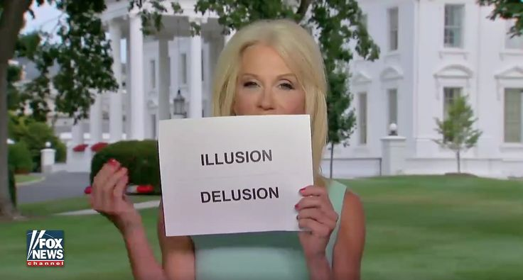 The president's counselor uses props on Sean Hannity's politics show on Fox News to explain collusion to Americans.
