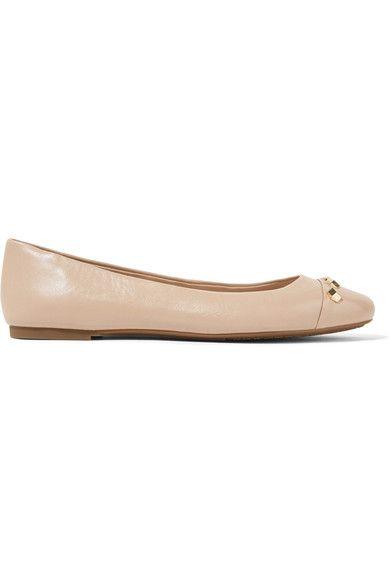 MICHAEL Michael Kors - Valencia Studded Leather Ballet Flats - Beige - US6.5