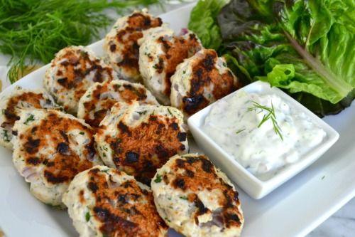 Greek lettuce wrapped turkey sliders