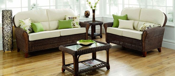 Grove rattan furniture in chocolate wash.