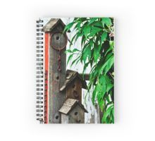 Spiral Notebook. Photographic Print. Bird House Triplex Suite By Sandra Foster - Red Bubble. #birdhouse #birdhouseart #sandrafoster
