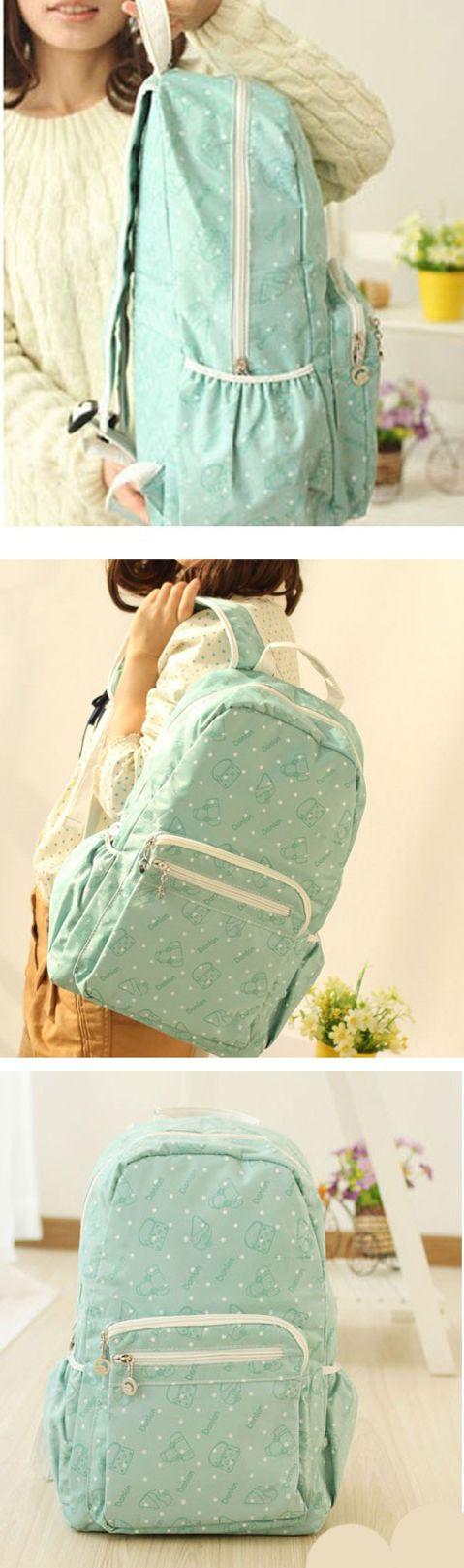 2017 Sweet Polka Dots Mint Green School Backpack for Girls, backpacks for girls, pink backpack, mini backpack, cool backpacks, backpacks for women