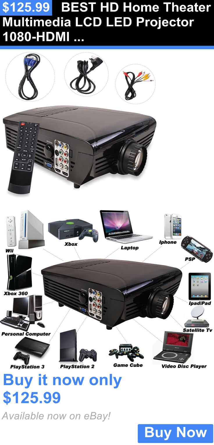 Home Theater Projectors: Best Hd Home Theater Multimedia Lcd Led Projector 1080-Hdmi Tv Dvd Playstation BUY IT NOW ONLY: $125.99