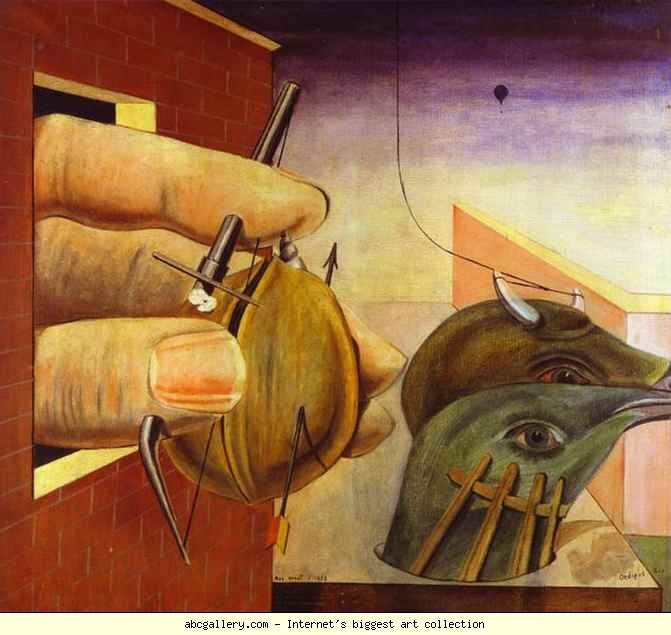 Max Ernst Oedipus Rex. 1922. Oil on canvas. 93 x 102 cm. Private collection.