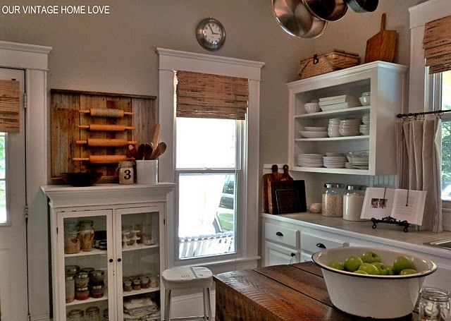 trim, beadboard backsplash - well, i love the trim and the cabinet... (and i always forget about beadboard as a backsplash option!)