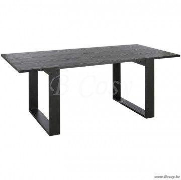 J-Line Zwarte tafel in hout 200